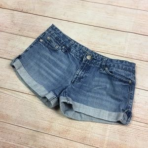 American Eagle Cuffed Mini Jean Shorts